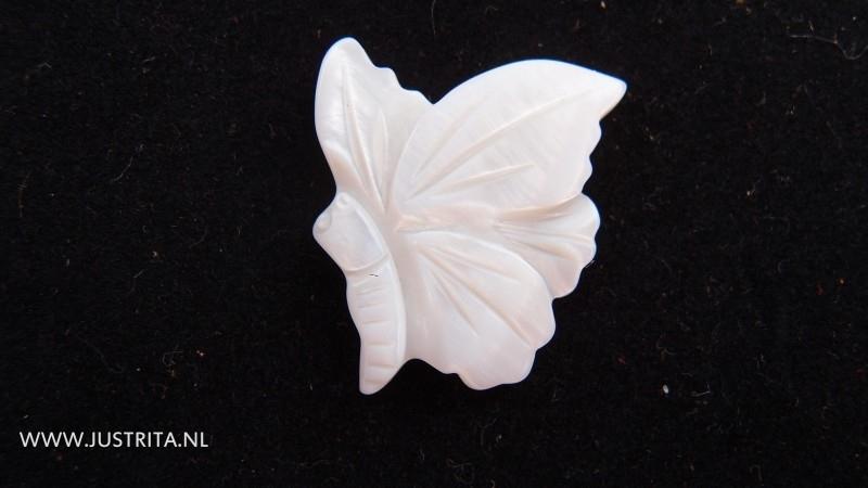Parelmoer vlinder cabochon
