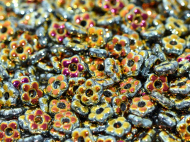 Flower Beads 5mm Jet Full Marea (50 stuks)