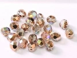 FP Facet 6mm Crystal Copper Rainbow (per 50 stuks)