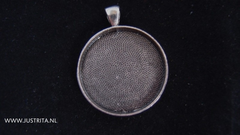 Hanger / cabochonsetting zilver 30mm