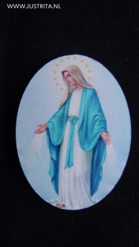 Houten cabochon Maria