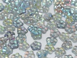 flower Beads 5mm Crystal Blue Rainbow (50 stuks)