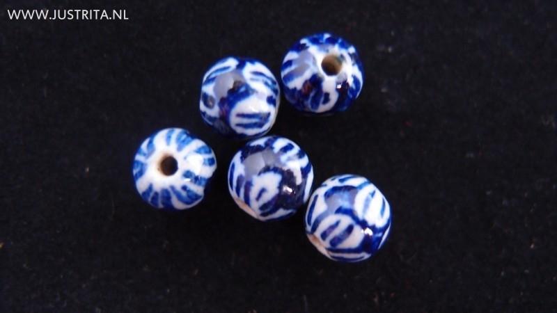 Handgemaakte porseleinen kraal bloem 8 mm