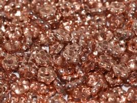 Flower Beads 5mm Crystal Capri Gold (50 stuks)