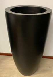 bloempot fiberstone mat zwart 90cm, voor binnen en buiten