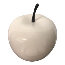 appel 26cm kunststof hoogglans wit decoratief