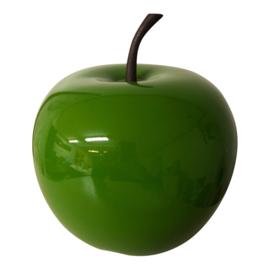 Appel hoogglans groen 16 cm decoratief