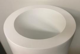 bloempot fiberstone mat wit 120cm, binnen en buiten