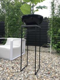 Bloempot Plantenschaal Fiberstone 50cm hoogglans zwart voor binnen en buiten