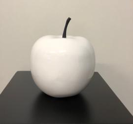 appel klein hoogglans wit 16 cm decoratief