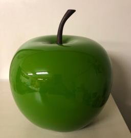 appel 26cm kunststof groen hoogglans decoratief voor binnen en buiten