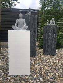 Sculptuur Man Zandsteen Zittend Voor Binnen en Buiten