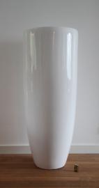 bloempot fiberstone hoogglans wit 120cm, voor binnen en buiten