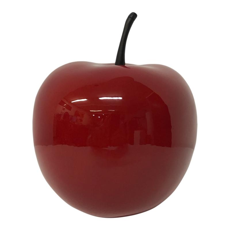 Appel klein hoogglans rood 16 cm decoratief