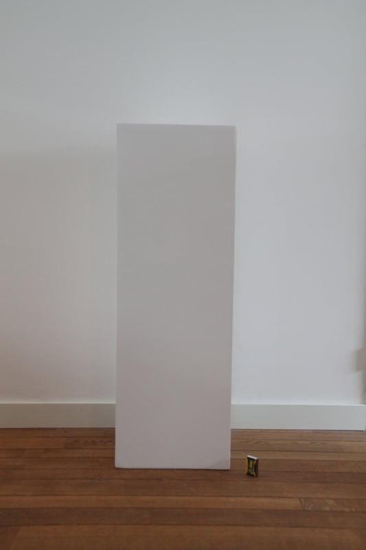 zuil hoogglans wit 28x28x80cm voor binnen en buiten
