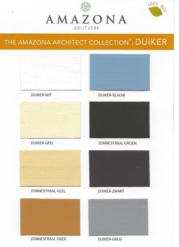 Farbkarte Duiker, The Amazona Architect Collection, A5