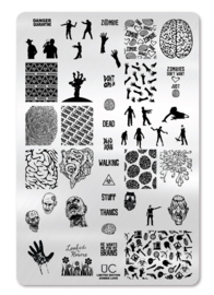 UberChic - Big Nail Stamping Plate - Zombie Love - 01