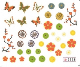 Waterdecals - Flowers & Butterflies