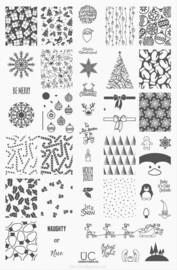 UberChic - Big Nail Stamping Plate - Holiday Spirit