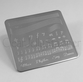 Clear Jelly Stamper - Stamping Plate - CJS_11 - Music & Notes