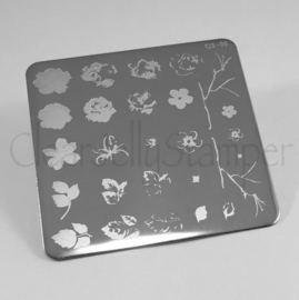 Clear Jelly Stamper - Stamping Plate -  CJS_05 - Renaissance Rose