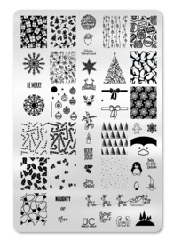 UberChic - Big Nail Stamping Plate - Holly Jolly