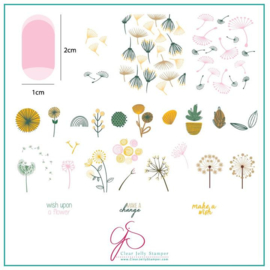 Clear Jelly Stamper - Medium Stamping Plate - CJS_155 - Wish Upon a Flower