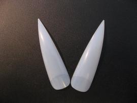 Lange Witte Stiletto Tips ( 12 stuks)