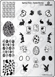 Nailways - Stamping Plate - Spring Time - 06. Easter Bunny