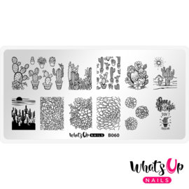 Whats Up Nails - Stamping Plate - B060 - Deserted Succelent