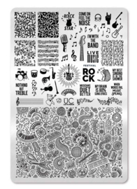 UberChic - Big Nail Stamping Plate - Let's Rock