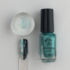 Clear Jelly Stamper Polish - #37 Caribbean Dream