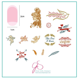 Clear Jelly Stamper - Stamping Plate - CJS_V09 - Cupid