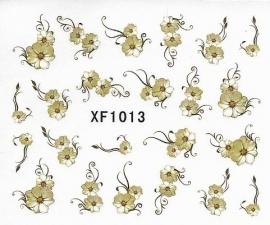 Waterdecals - Gold Flowers