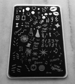 Clear Jelly Stamper - Big Stamping Plate - CJS_H03 - Happy New Year!