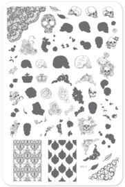 Clear Jelly Stamper - Big Stamping Plate - CJS_LC31 - Romantic Rebel