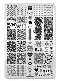 UberChic  - Big Nail Stamping Plate - Love and Marriage - 05