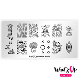 Whats Up Nails - Stamping Plate - B062 - Never Lose Control