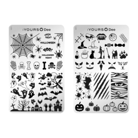 Yours Cosmetics - Stamping Plates - :YOURS Loves Dee - YLD013. Halloween Night(double sided)