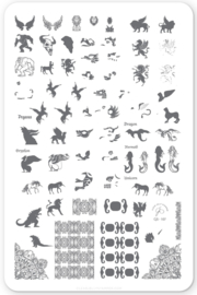 Clear Jelly Stamper - Big Stamping Plate - CJS_107 Mythical Creatures