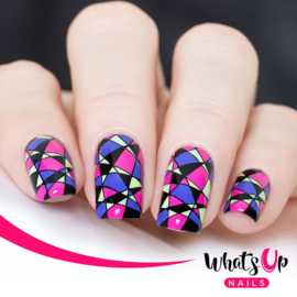Whats Up Nails - Stamping Plate - B039 Geometric Trance