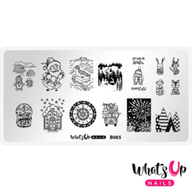 Whats Up Nails - Stamping Plate - B065 - Winter Flurryland