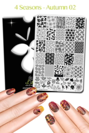 Lina - Stamping Plate - 4 Seasons - Autumn 02