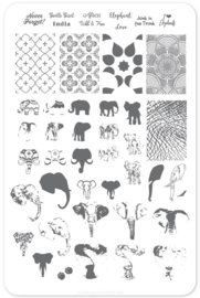 Clear Jelly Stamper - Big Stamping Plate - CJS_LC44 - Everything Elephant