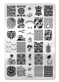 UberChic - Big Nail Stamping Plate - The Far East - 02