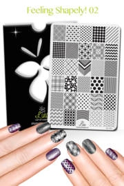 Lina - Stamping Plate - Feeling Shapely! - 02