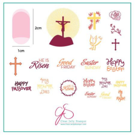 Clear Jelly Stamper - Stamping Plate - CJS_H32 - He is Risen