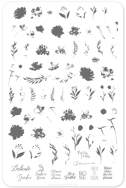 Clear Jelly Stamper - Big Stamping Plate - CJS_81 - Watercolour Garden