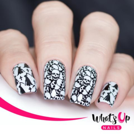 Whats Up Nails - Stamping Plate - B036 Eeks and Screams