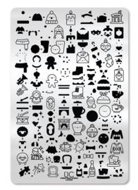 UberChic  - Big Nail Stamping Plate - Christmas Kawaii Layers